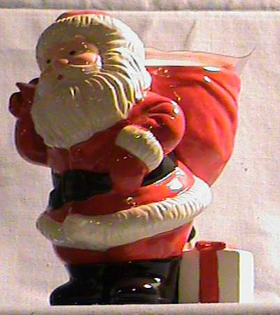 1982 Avon Ho Ho Glow  Santa Candle and Holder