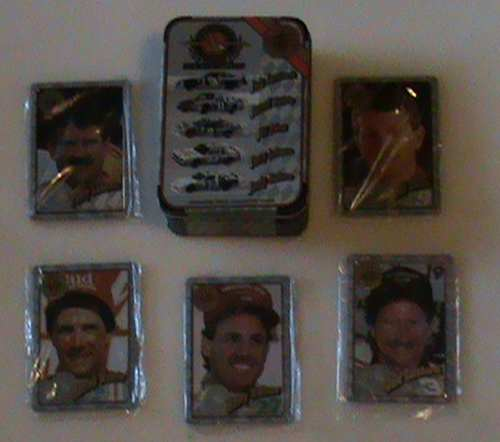 1995 Nascar Winston Cup Champions Metal Collector Card Set