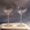 Avon Hummingbird Champagne Glass Set of 2